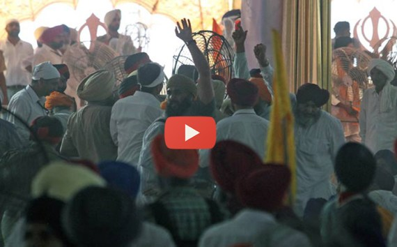 Slogans Raised During Rajnath Singh's Speech at Sri Anandpur Sahib