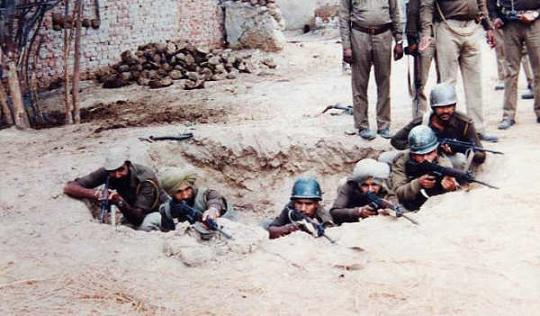 CRPF Forces taking position