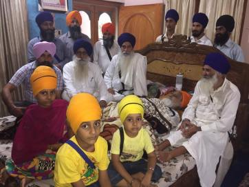 Sikh sangat from far and near are coming to visit Bapu Surat Singh Khalsa. 2