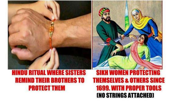 Why SIKHS don't celebrate RAKHRI