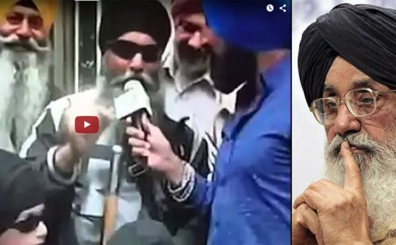 This Singh SMASHES it!!! YOU need to watch this.....he gives a message to Badal!