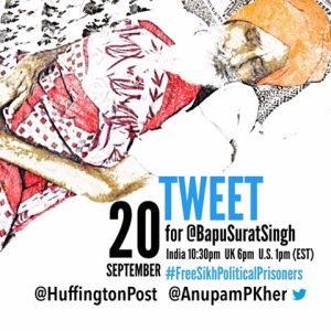 Please tweet for Bapu Surat Singh Khalsa using the hashtag ‪