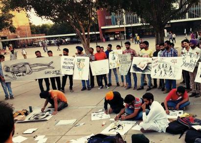 Silent protest by artists in Chandigarh sector 17 in support of Bapu Surat Singh Ji Khalsa's (3)