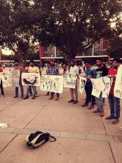 Silent protest by artists in Chandigarh sector 17 in support of Bapu Surat Singh Ji Khalsa's (4)