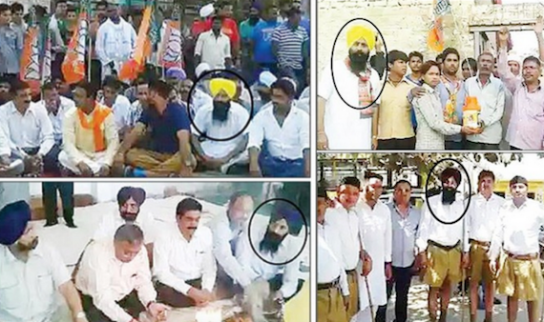 Viral-images-show-SGPC-chief-secretary-as-RSS-worker