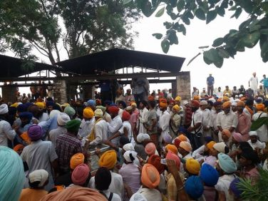 At the funeral of martyr Gurjit Singh Bhai pathaprita Singh are accessible, reaching unham uparata will be cremated.
