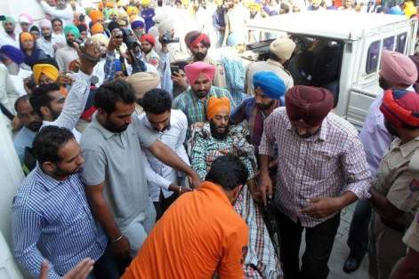 Bargadi :- Severely Injured Rupinder Singh Brought to Court on Wheelchair ; Sent To Jail Till November 9 As Per Direction Of A Local Court.