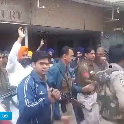 Jagtar Singh Hawara Court Appearance Welcomed With Flowers November 28, 2015