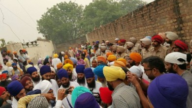 Sikh sangat outraged after incident of Beadbi at Malke vilalge