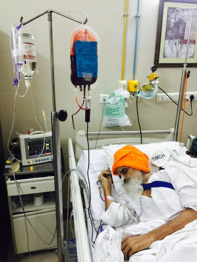 bapu Surat Singh khalsa at hospital