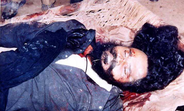 Baba jee's blood soaked body
