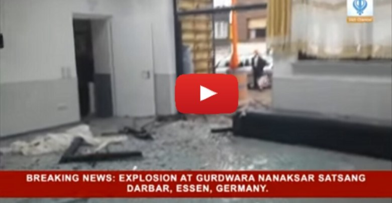 Bomb blasting in gurdwara germany