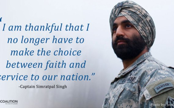 U.S. Army :- Captain Simratpal Singh, Receives Approval to Maintain his Articles of Faith