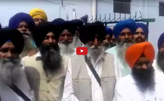 Simranjit Singh Mann | Protest Against Jathedar Dhian Singh Mand Re-Arrest