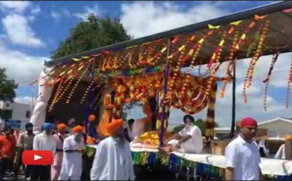 Sikh Parade Made Colorful Explosion life Gurdwara Sikh Sangat Tauranga