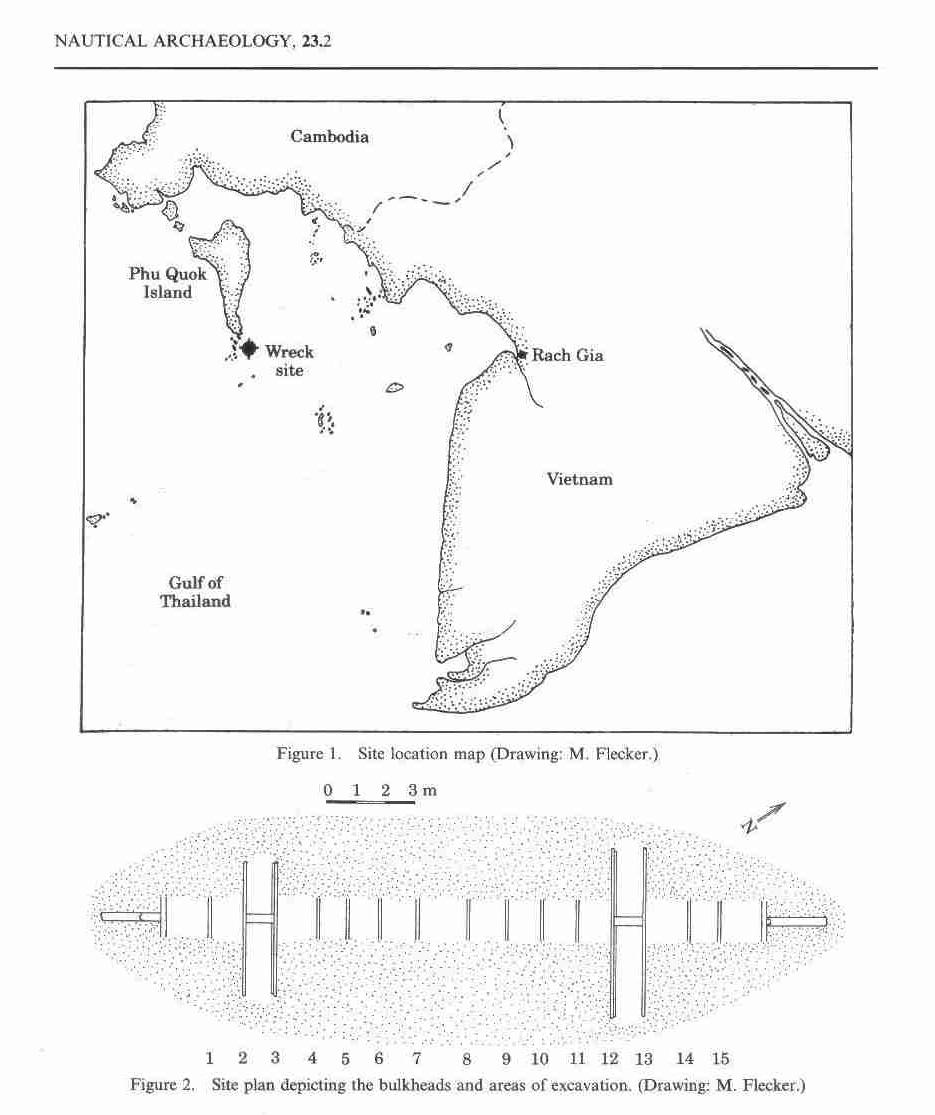 Vị trí và hình vẽ mô tả tàu đắm Phú Quốc