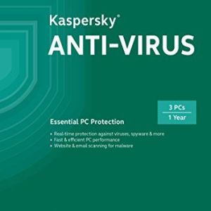 3 User 1 Year Kaspersky Antivirus ( 3 Individual keys ) Latest Version ( CD / DVD/ Instant Email Delivery of Key )