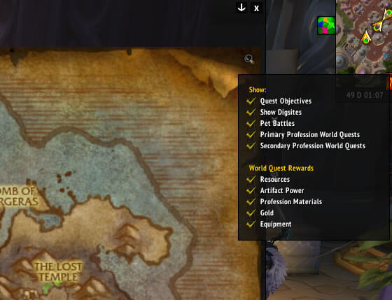 Broken Shore Map Tracker Options
