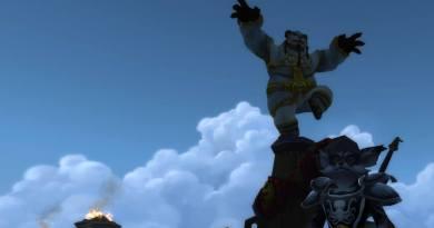 Vulpera Monk Leveling with Pandaren Monk in background