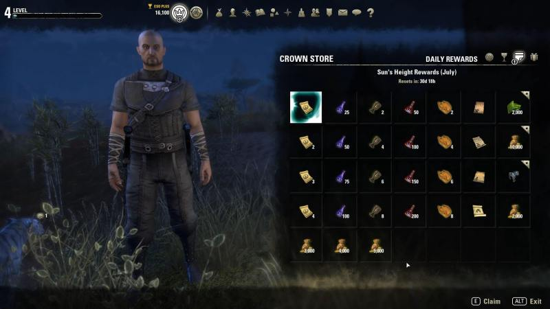 ESO Greymoor Daily Rewards July 2020