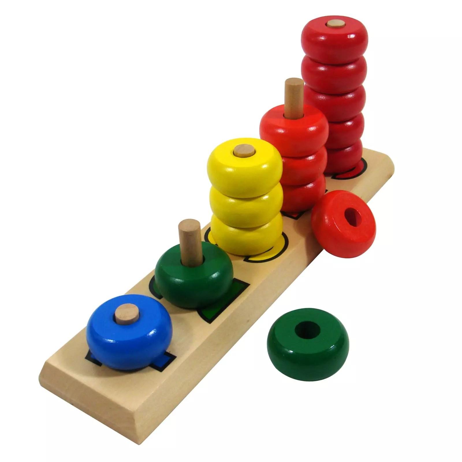 Bộ đồ chơi 5 cột tính màu sắc
