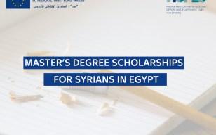 Master's Degree scholarships for Syrians in Egypt