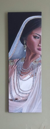 Beautiful Dreamer. Acrylic on 12 X 24 inch gallery wrapped canvas. Sold.