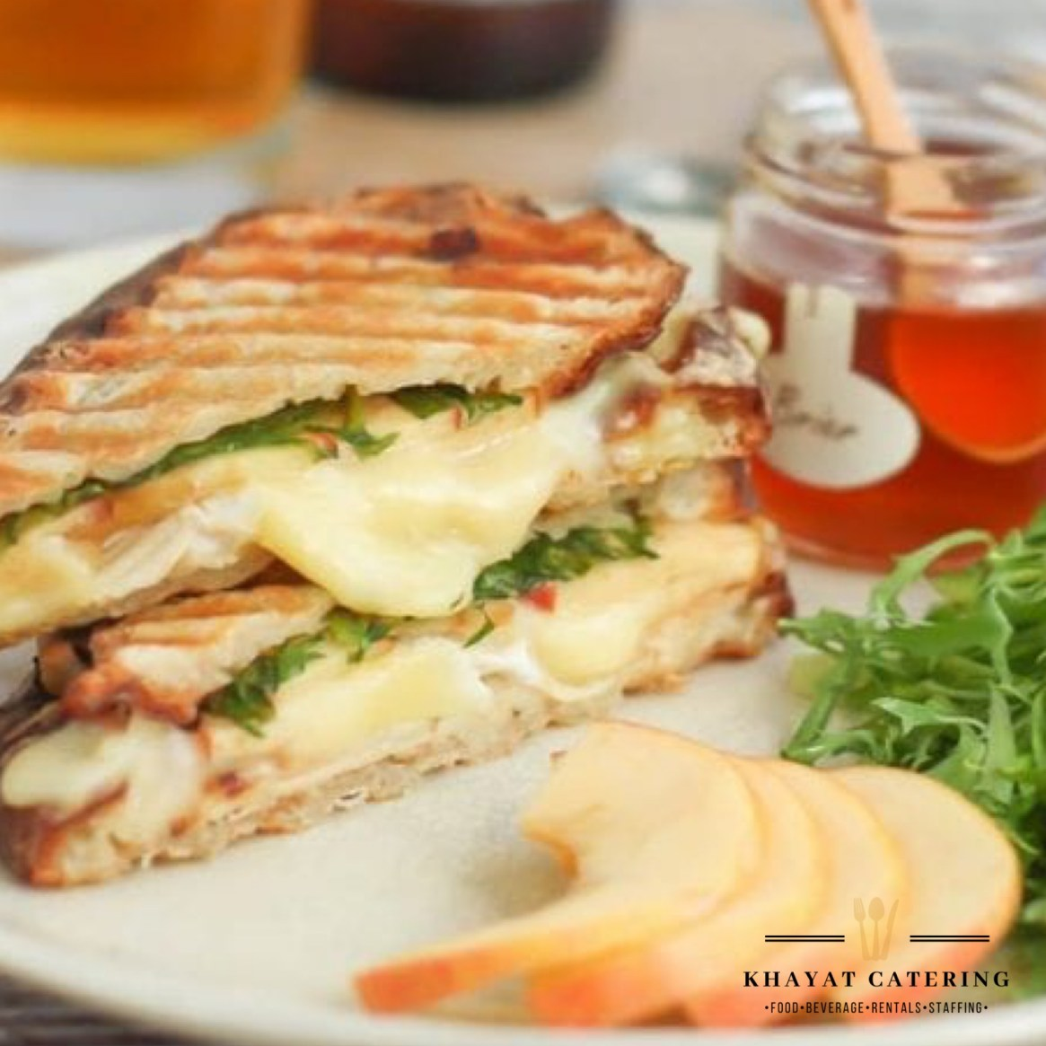 Khayat Catering Apple chicken panini