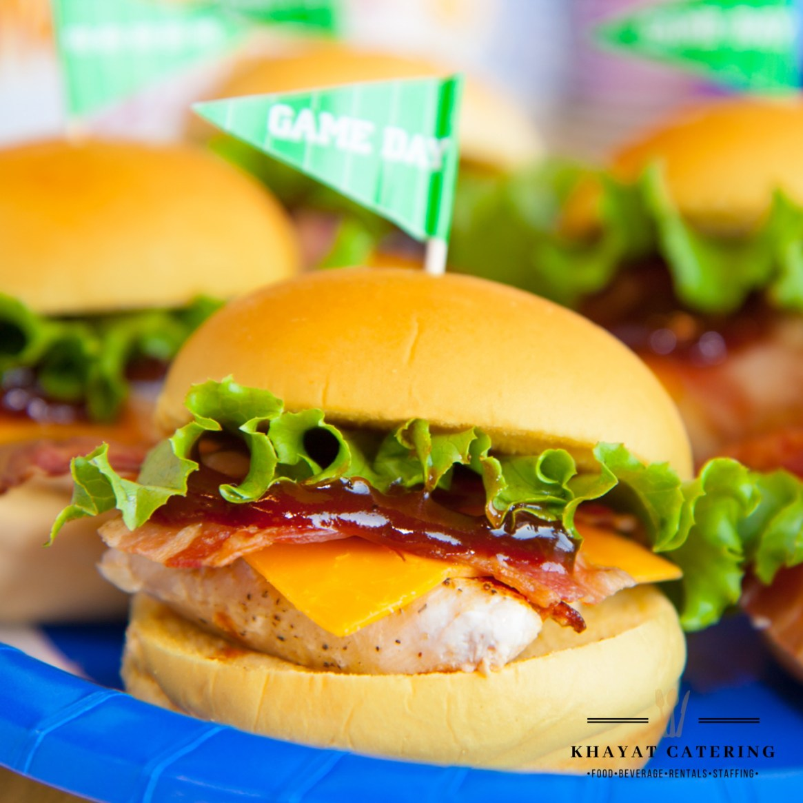 Khayat Catering cheddar bacon chicken sandwich