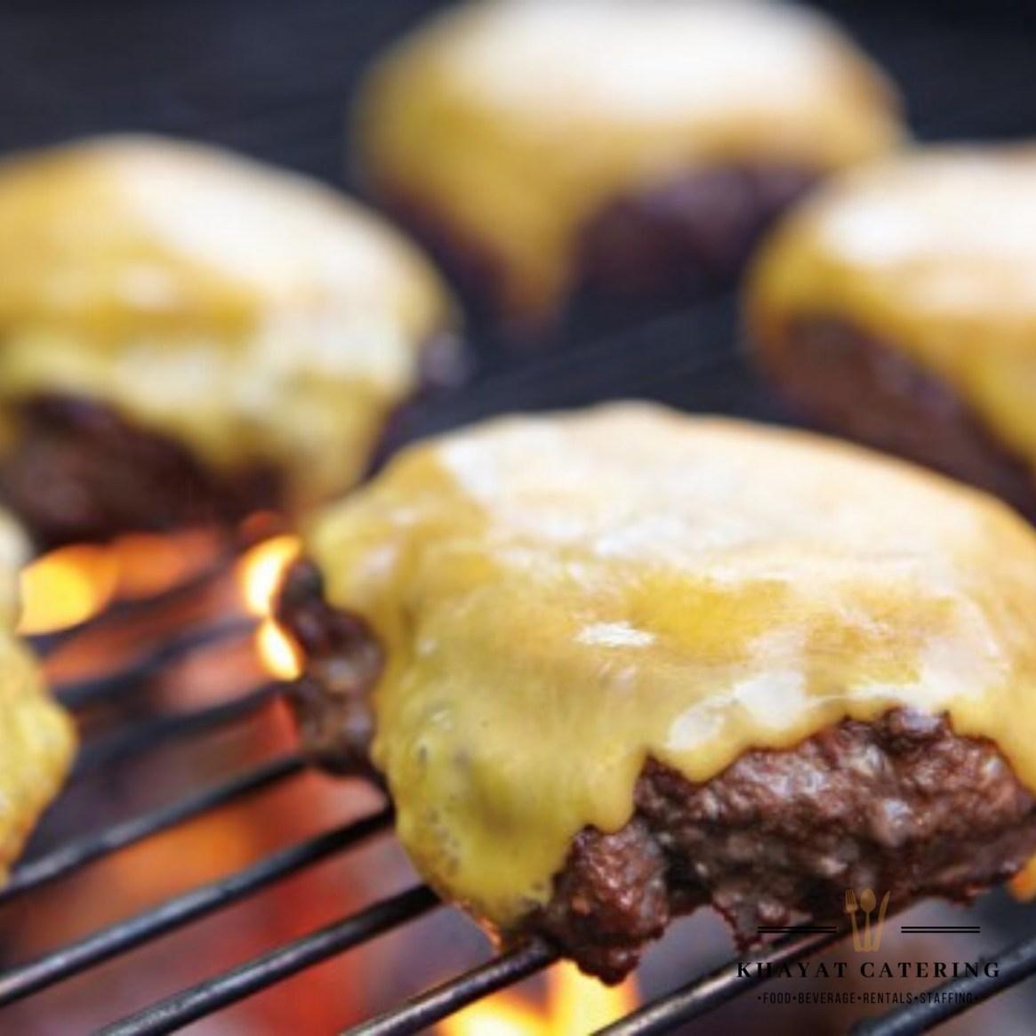 Khayat Catering cheeseburger