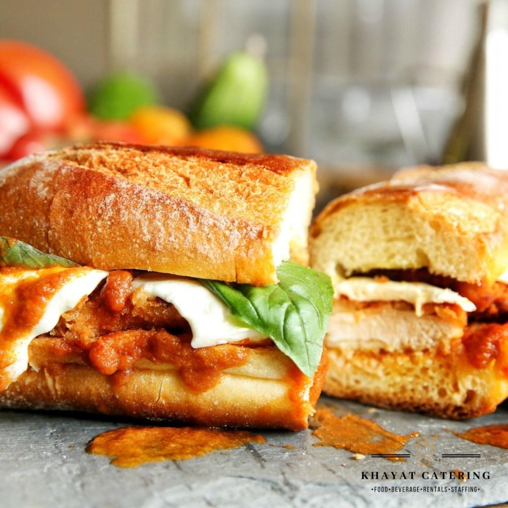 Khayat Catering chicken Parmesan sandwich