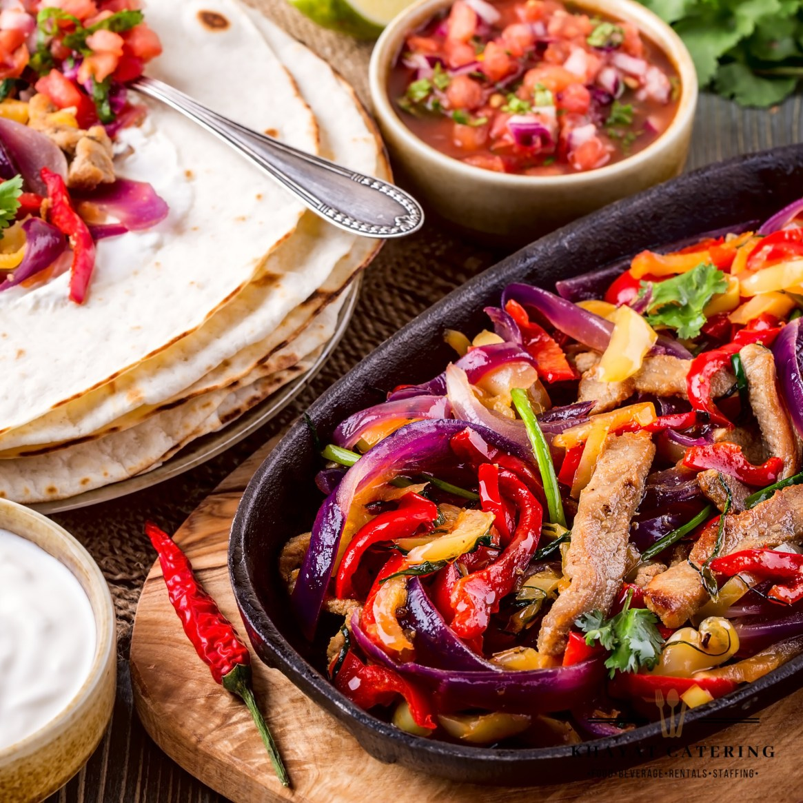 Khayat Catering chicken fajitas