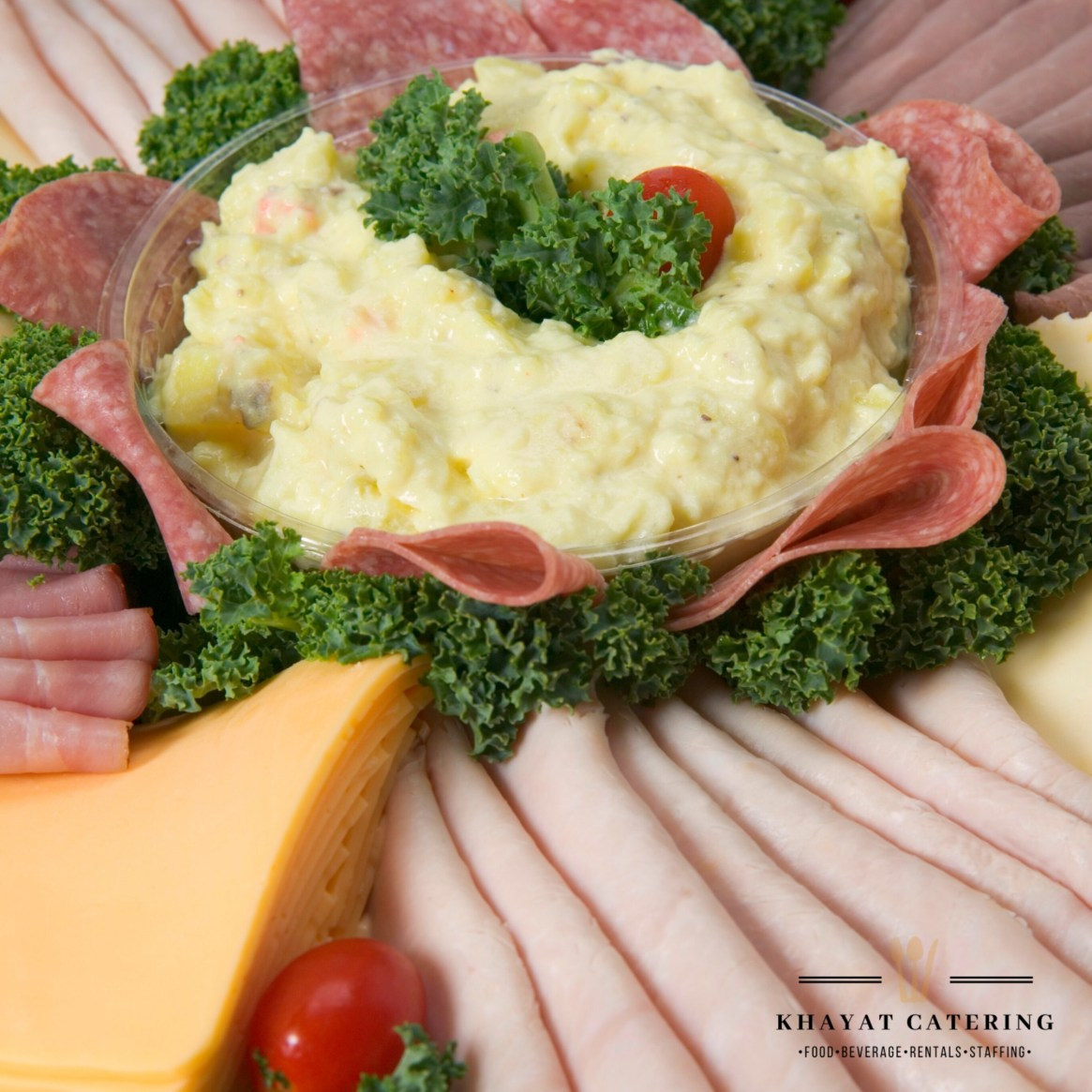 Khayat Catering deli meat platter