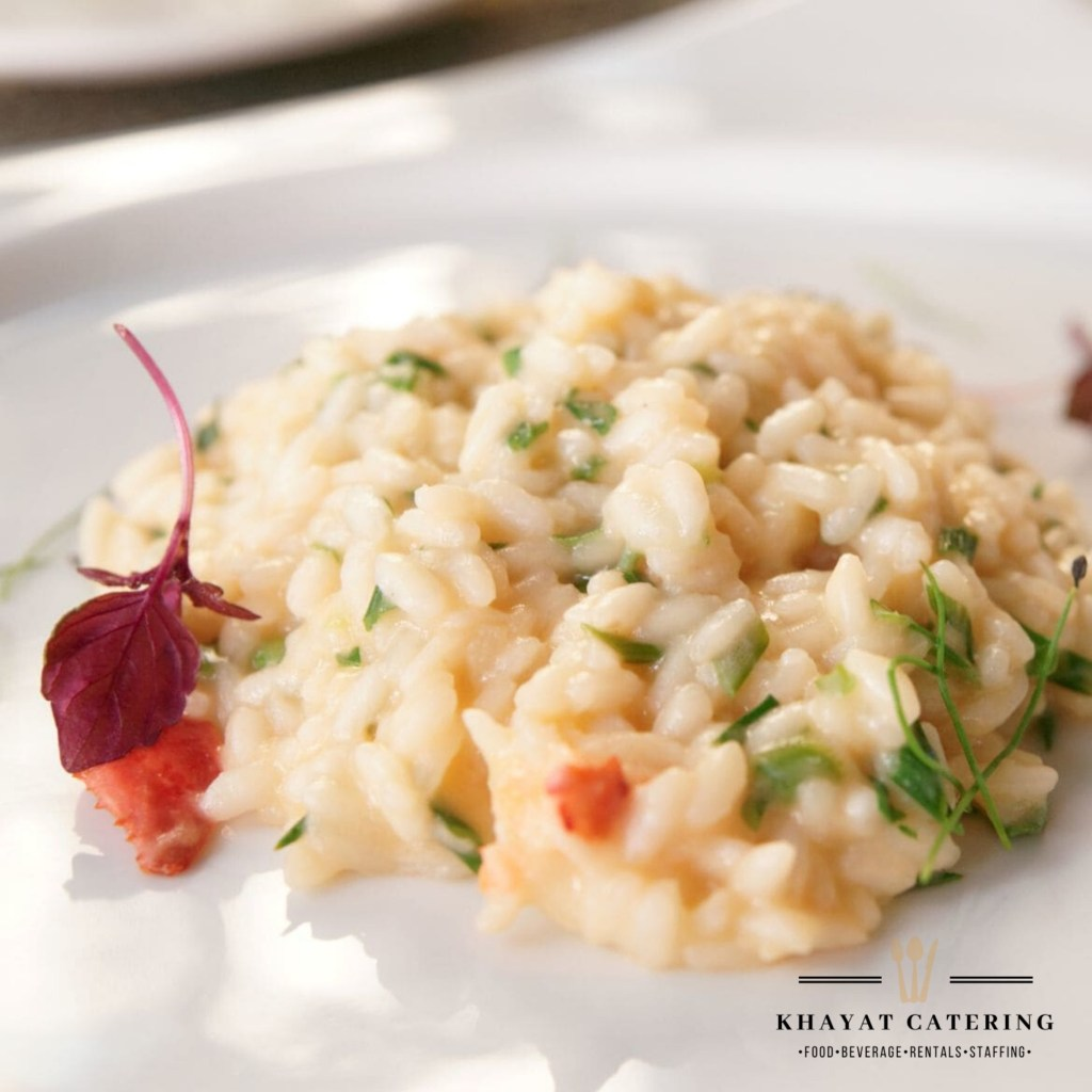 Khayat Catering lobster and shrimp risotto