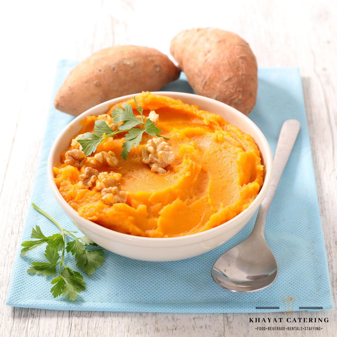 Khayat Catering mashed sweet potato