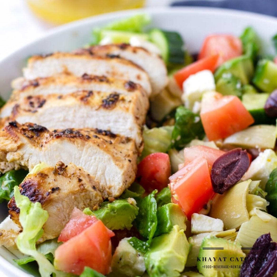 Khayat Catering mediterranean chicken salad
