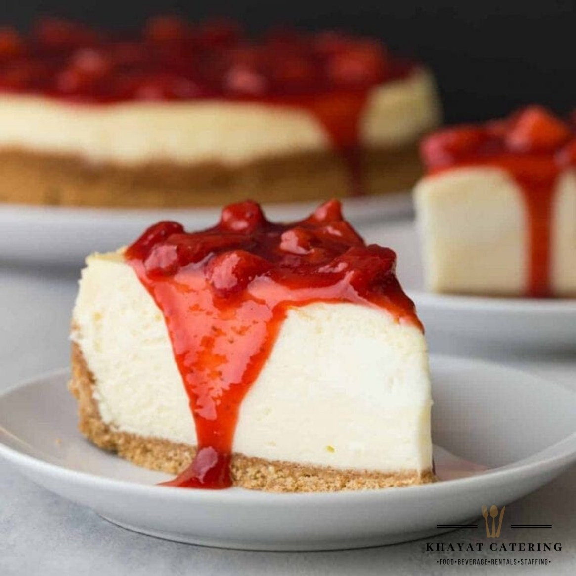 Khayat Catering strawberry cheesecake