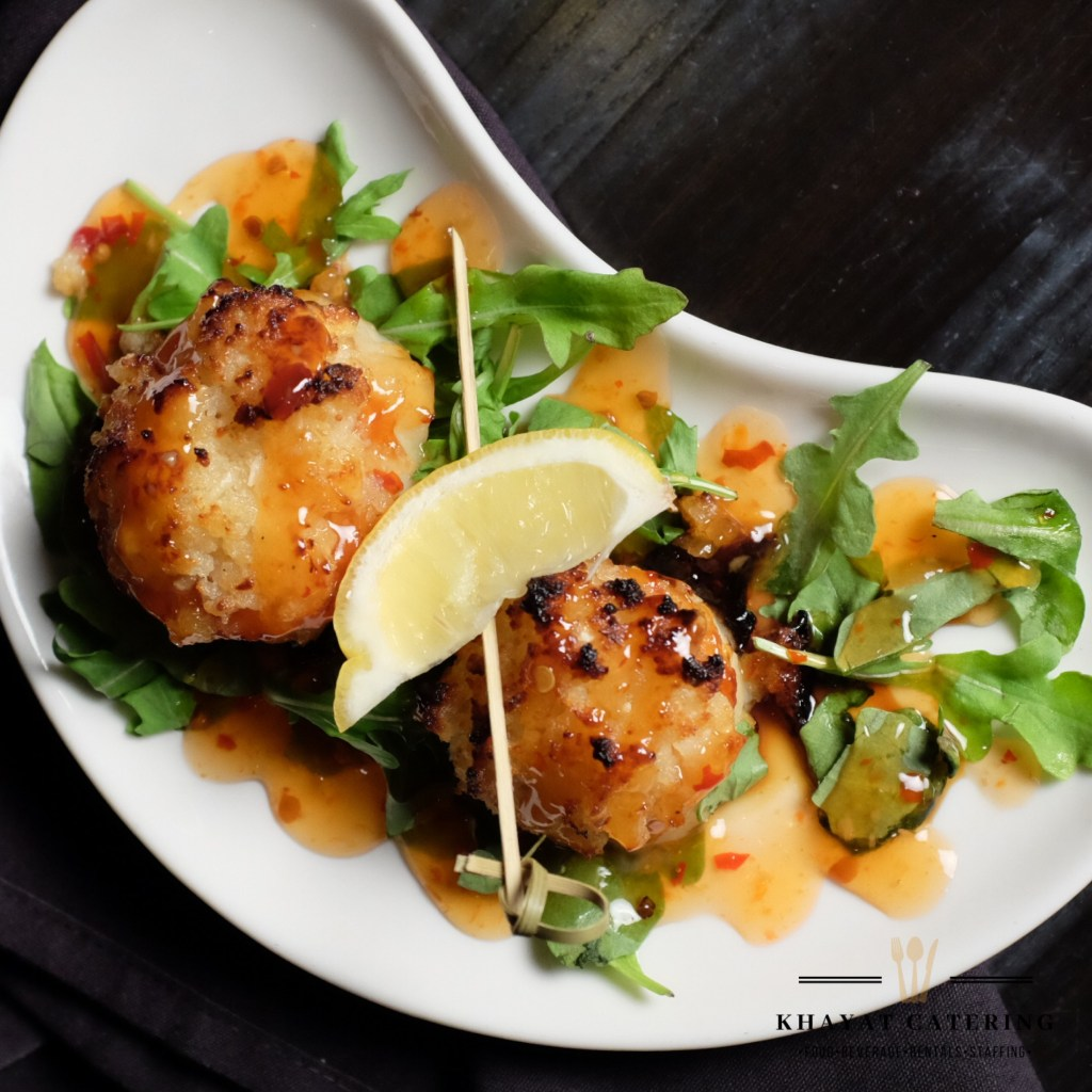 Khayat Catering sweet and sour scallops