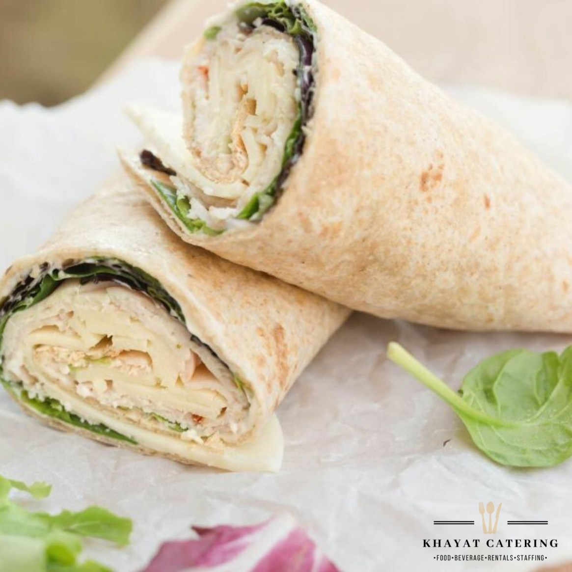 Khayat Catering turkey Rueben wrap