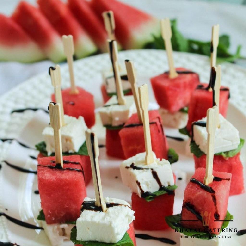 Khayat Catering watermelon feta kabobs