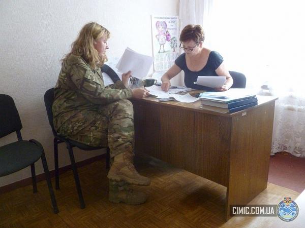 """""""Приблизно 30-35% """"сіміків"""" - жінки-військовослужбовці"""". На світлині моніторинг ситуації в н.п. Райгородка і Бахмутівка. Фото зі сторінки cimic.com.ua"""