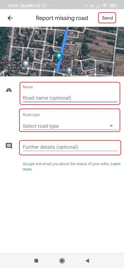 cara membuat nama jalan di google maps