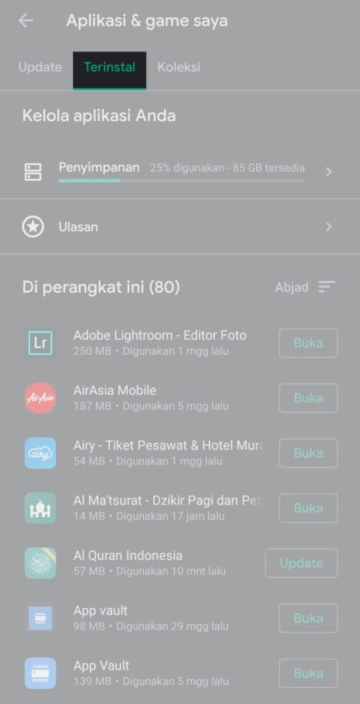 Cara Melihat Aplikasi Yang Sudah Di Uninstall Di Android
