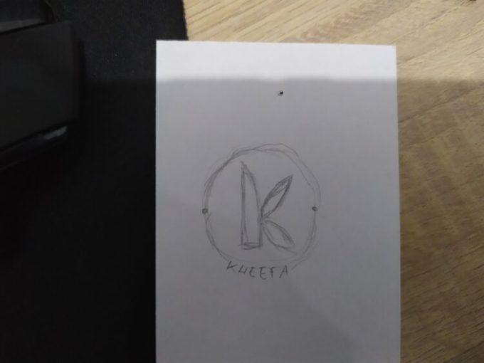 Sketsa sebagai salah satu cara membaut logo dengan Photoshop