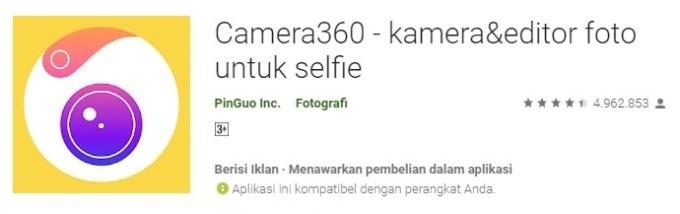Camera360 aplikasi kamera bikin cantik dan ganteng