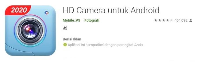 HD Camera aplikasi kamera yang lagi tren