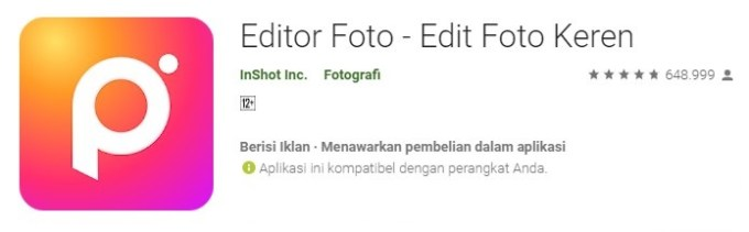 Photo Editor aplikasi edit foto anak gaul