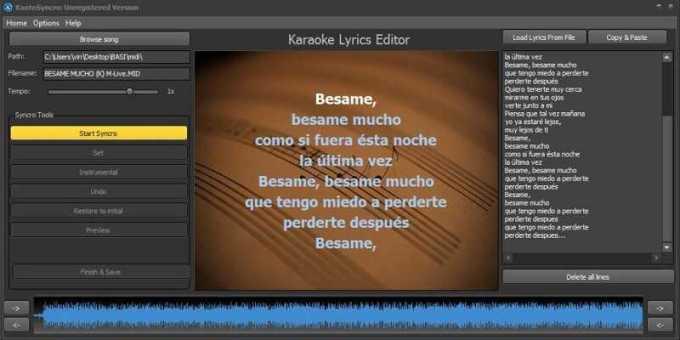 kanto syncro - cara membuat video lirik lagu