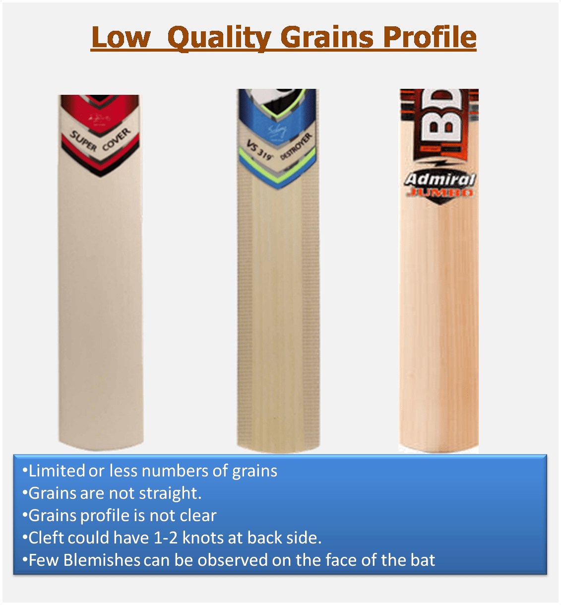 Lower End English willow Cleaft Cricket Bats