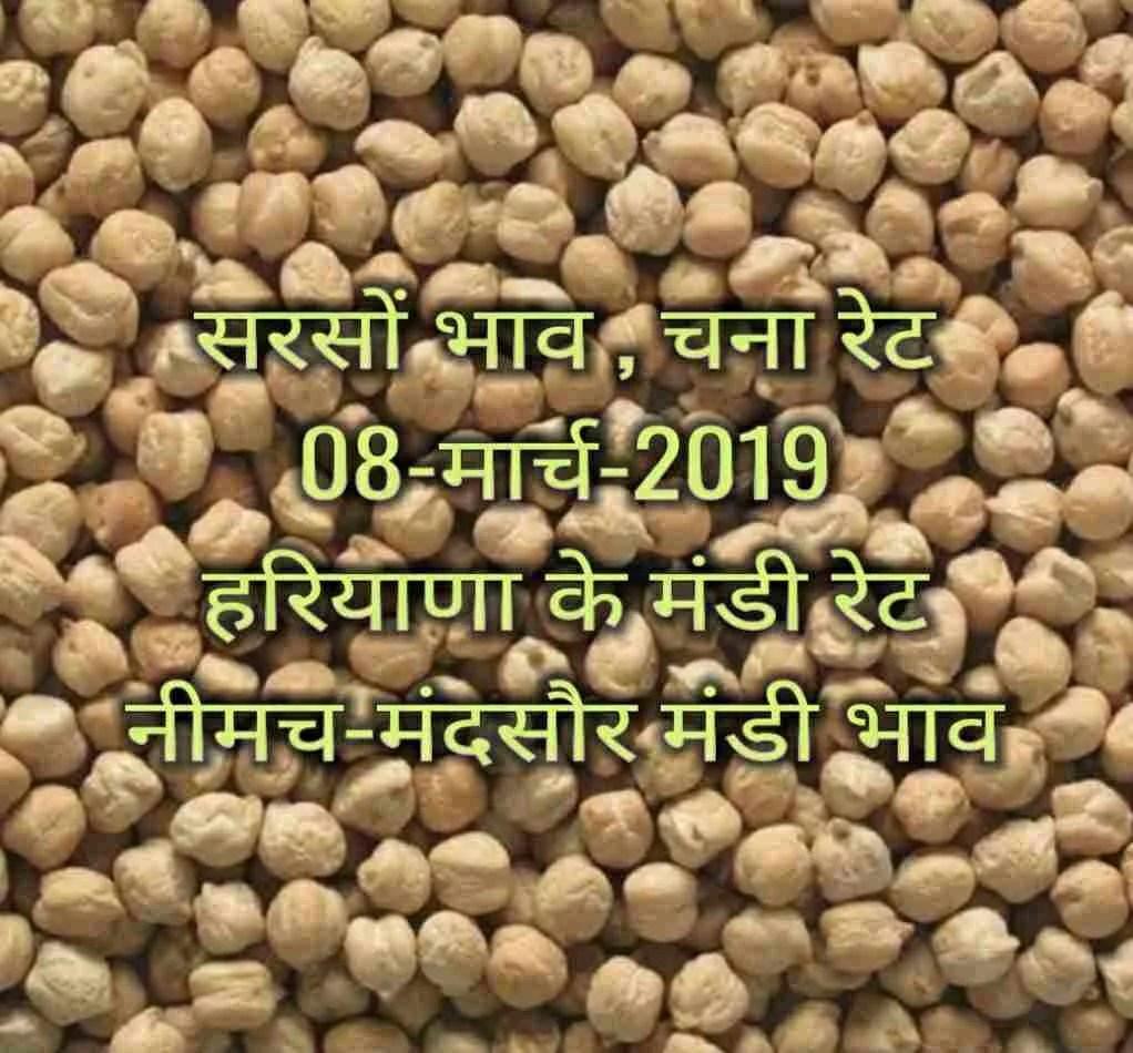 sarso-ka-bhav-08-march-2019 , lahsun bhav , saoyabean rates